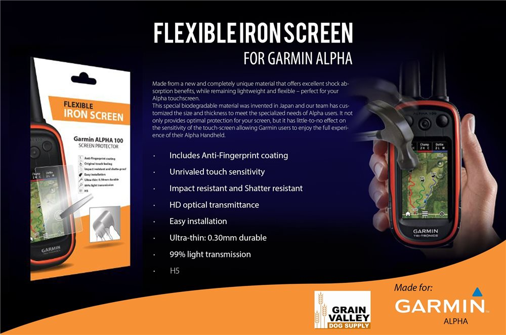 Flexible Iron Screen for Alpha - Click Image to Close