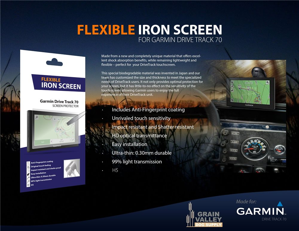 Flexible Iron Screen for Drive Track - Click Image to Close