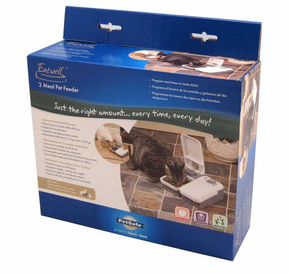 2-Meal Electronic Feeder - Click Image to Close